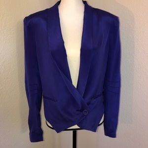 NWT Rebecca Minkoff Becky Silk Blazer Jacket